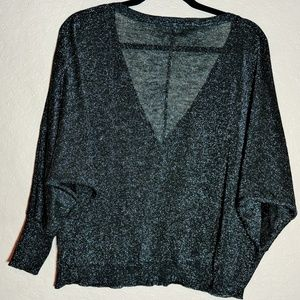 Free People button down shimmery cardigan size L